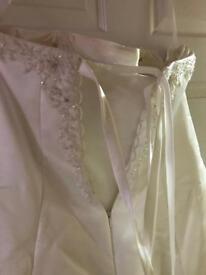 Plus size Chloe wedding dress and lace Bolero