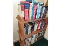 Large & small pine bookcases