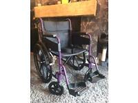 days escape self propelled purple wheelchair