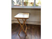 Wood side table X leg frame