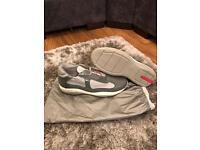 Men's size 8 grey Prada trainers