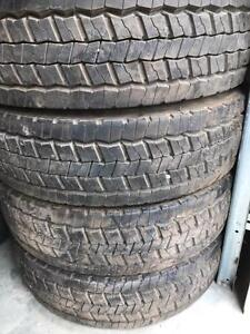IN CALGARY) 4- 225/70R19.5 CONTINENTAL TAKE OFF NEW TIRES $ 600 for 4