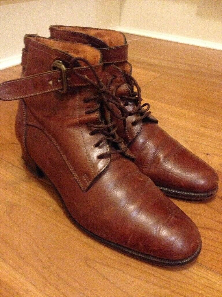 Italian leather boots, size 4 REDUCED