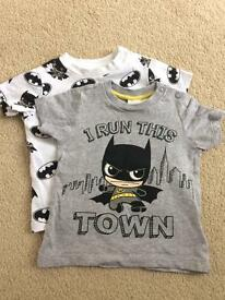 Set of two H&M baby batman t-shirts (2-4 months)