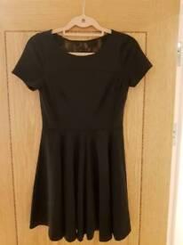 Black ASOS lace back dress. Size 12