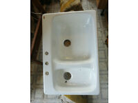 Kitchen Sink - Cast Iron/White Enamel by Kohler