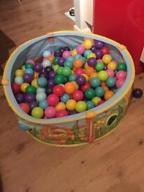 Ball pit and balls