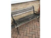 Cast Iron ended garden bench
