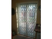 Window Security Shutter Grilles Patio French Door Security Folding Grille Gate Domestic