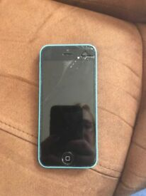Blue iPhone 5c not working selling for parts