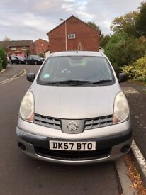 Nissan Note Acenta (2007). Manual. Petrol. Millage 106346. MOT till October 2018.