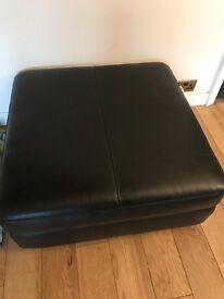 Black Leather Endurance Sofa