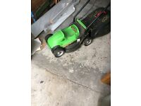 Electric lawn mower Florabest model no Frm 1200 A1 with grass box.
