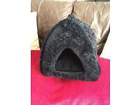 black velvet cat igloo