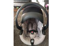 Stokke BeSafe Izi Go Grey Melange Car Seat With Isofix Base And Receipt