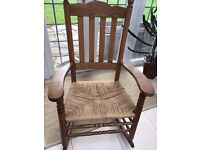 AMERICAN SHAKER STYLE, SOLID WOOD ROCKING CHAIR