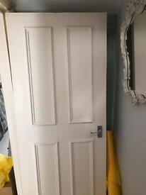 Lovely white painted wooden door