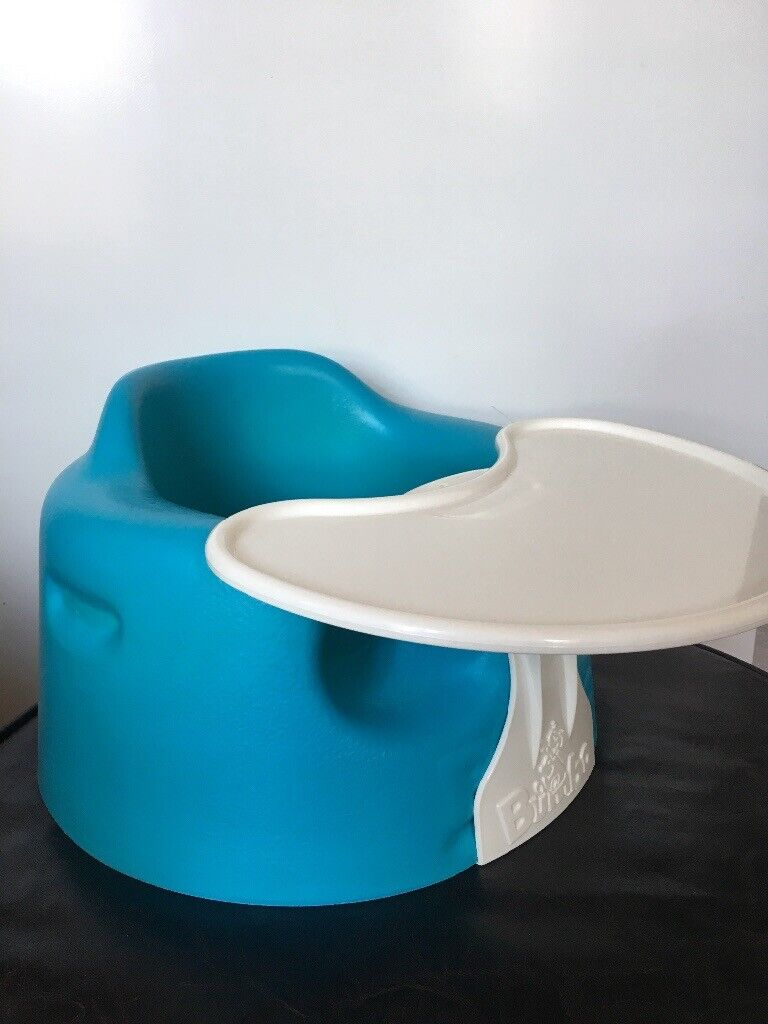 Bumbo Baby Seat With Tray green/blue/turquoise Used Good Condition Other