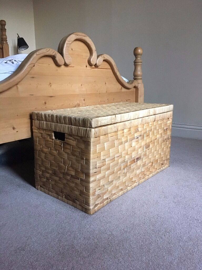 huge discount c8eb5 5b641 Homebase Wicker Storage Ottoman / Chest Laundry Hamper for Sale! £25 | in  Newcastle, Tyne and Wear | Gumtree