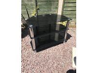 TV Stand- Black/Glass
