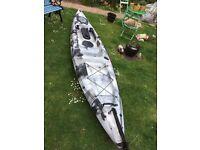 galaxy sturgeon sea fishing kayak silver camo as new