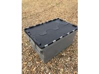 Heavy duty storage box with lid 600x 400 stackable