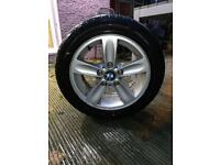 """BMW 1 series 16"""" alloys with tyres 70% wear"""