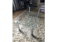 Large glass coffee table, excellent condition