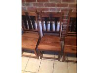 Solid oak wood chairs. Set of 3 for sale. perfect condition