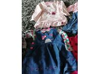 Large selection of girls 3-6months clothes