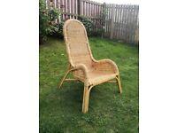 Lovely unusual cane chair / armchair. £20