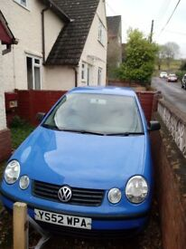 Vw polo 02 for spares or repair