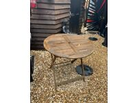 Folding Garden Table - solid wood