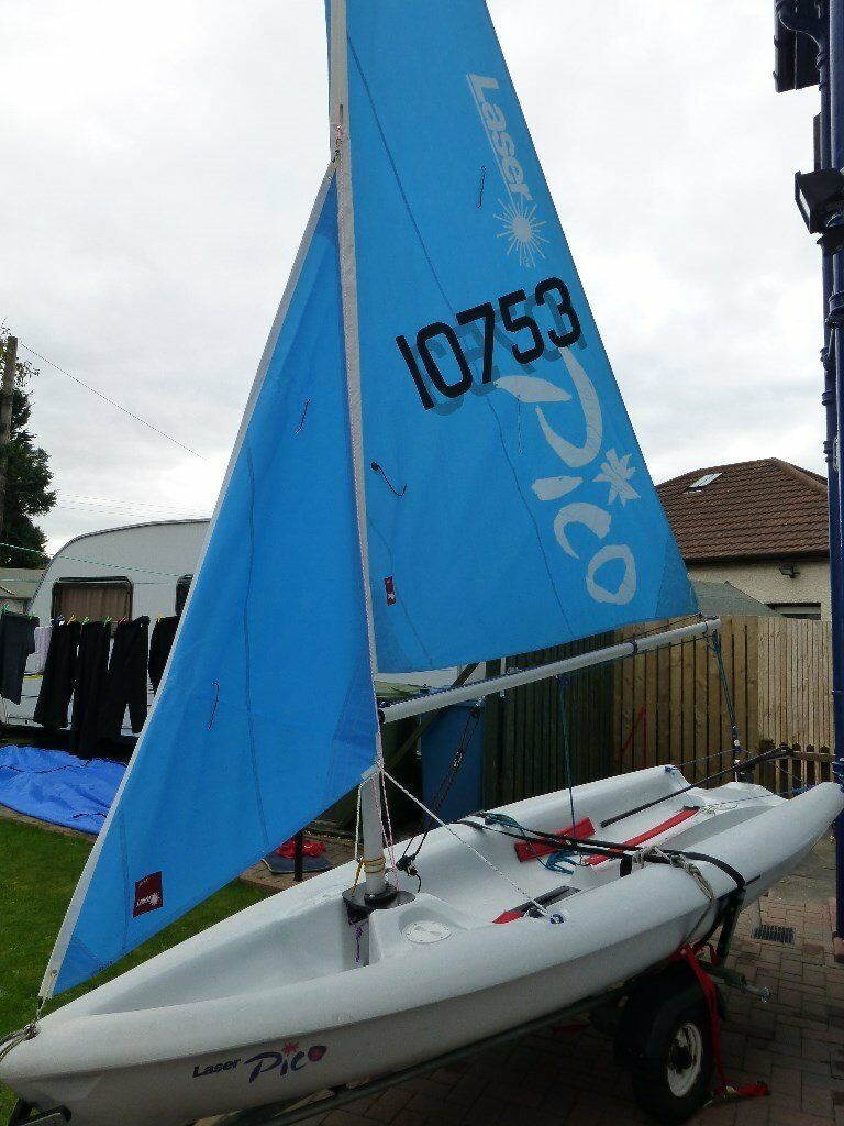 Laser Pico Sailing Dinghy Complete With Combi Road Beach