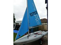 Laser Pico sailing dinghy complete with combi road/beach trailer .Complete package.