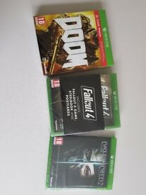 Xbox one games fallout 4 Doom Dishonoured 2 (New in wrappers)