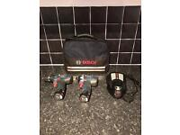 Blue Bosch Professional 10.8v 12v Twin Pack Combi Drill & Impact Driver New.