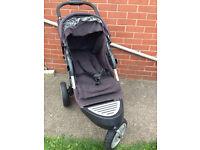 Baby Push Chair Pram Stroller 3 Wheels Strong