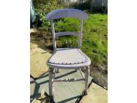 Wooden chair upcycle project vintage antique