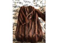 Vintage 1930s genuine real mink fur coat