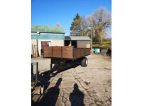 Tipping trailer 13 by 7 twin ram