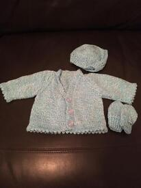 *NEW* Hand knitted 0-3 cardigans