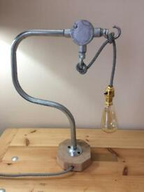 Hand made industrial lamp