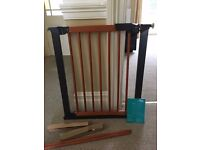Wooden Mothercare Easyfix Avantgarde Stairgate with instructions and spares