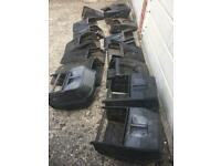Large selection of petrol mower grassboxes