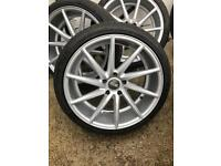 BMW 20 inch 5x120 vossen cvt directional alloys and tyres