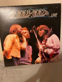 Bee Gees Live vinyl album double