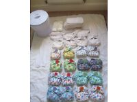 20 Totbots reusable cloth nappies (16 Easyfit + 4 classic Bamboozle)