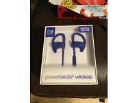 POWERBEATS Wireless headphones By Dr Dre in Brick Blue