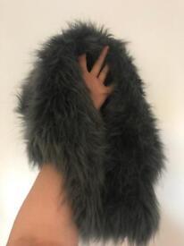 Festival fur rabbit hood